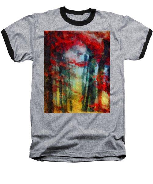 Baseball T-Shirt featuring the painting Beautiful Secrets by Joe Misrasi