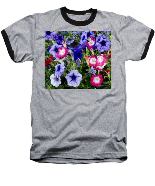 Baseball T-Shirt featuring the photograph Beautiful Summer Annuals by Wilma  Birdwell