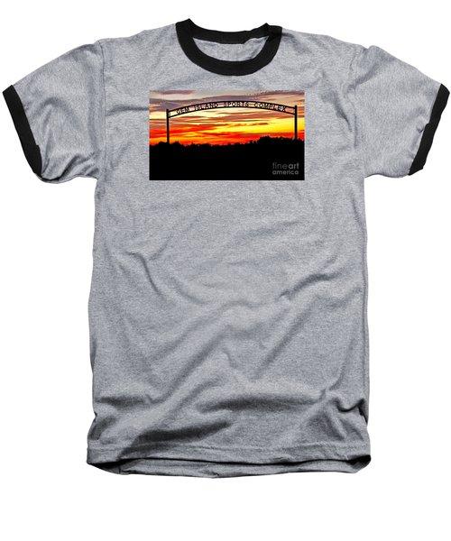 Beautiful Sunset And Emmett Sport Comples Baseball T-Shirt by Robert Bales