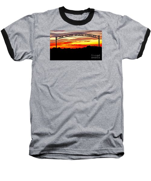 Beautiful Sunset And Emmett Sport Comples Baseball T-Shirt
