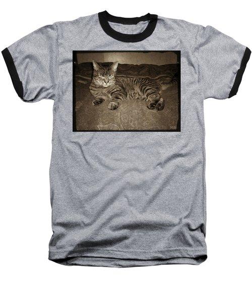 Baseball T-Shirt featuring the photograph Beautiful Tabby Cat by Absinthe Art By Michelle LeAnn Scott