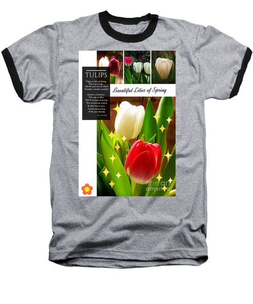 Beautiful Tulip Series 1 Baseball T-Shirt