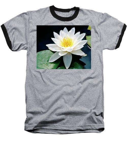 Beautiful Water Lily Capture Baseball T-Shirt by Ed  Riche