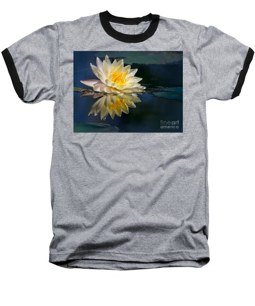 Beautiful Water Lily Reflection Baseball T-Shirt