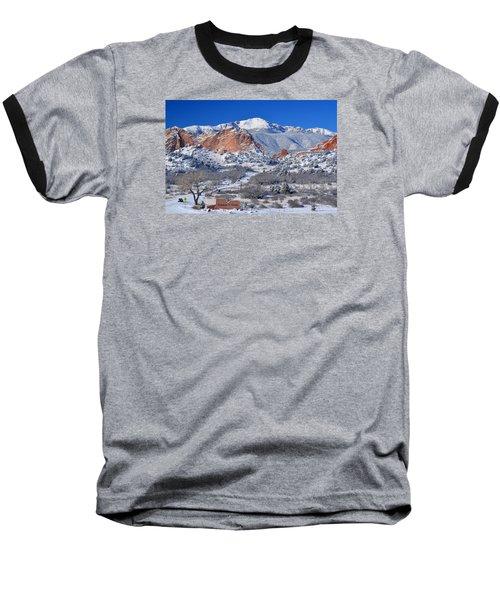 Beautiful Winter Garden Of The Gods Baseball T-Shirt