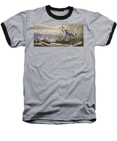 Beauty Along The Shore Baseball T-Shirt by James Williamson
