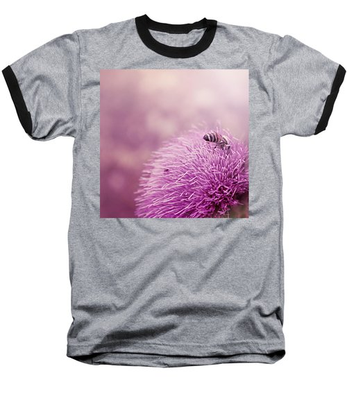 Beauty And The Bee Baseball T-Shirt by Trish Mistric