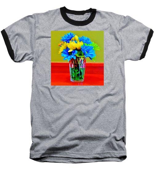 Beauty In A Vase Baseball T-Shirt by Cynthia Guinn