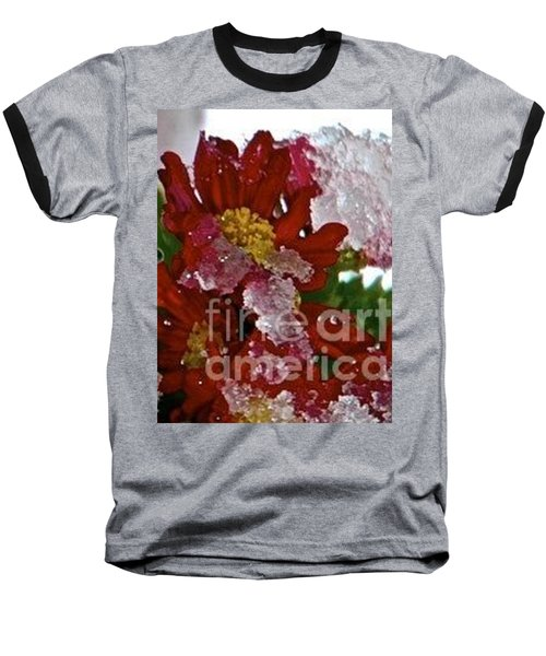 Beauty Under Ice Baseball T-Shirt