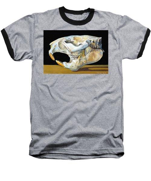 Beaver Skull 1 Baseball T-Shirt