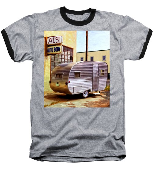 Becky's Vintage Travel Trailer Baseball T-Shirt