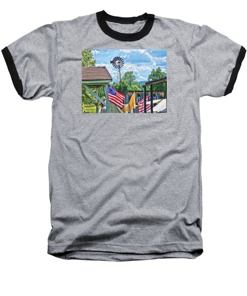 Bedford Village Pennsylvania Baseball T-Shirt by Kathy Churchman