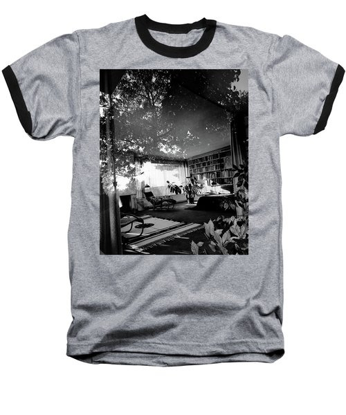 Bedroom Seen Through Glass From The Outside Baseball T-Shirt