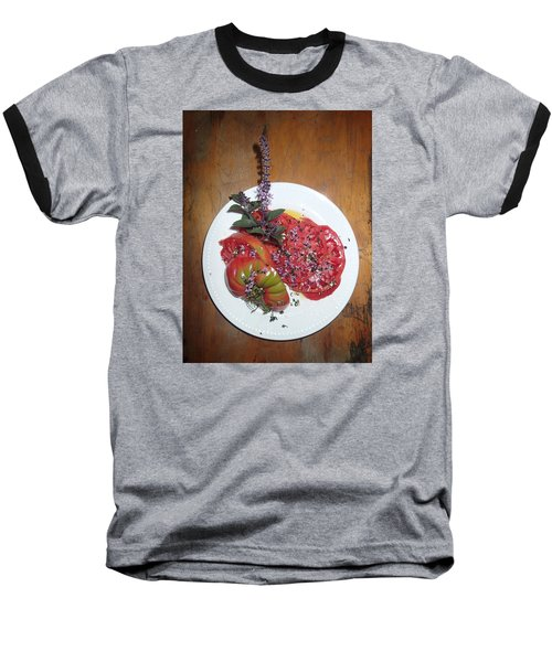 Baseball T-Shirt featuring the photograph Beefsteak by Robert Nickologianis