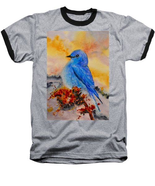 Baseball T-Shirt featuring the painting Before The Song by Beverley Harper Tinsley