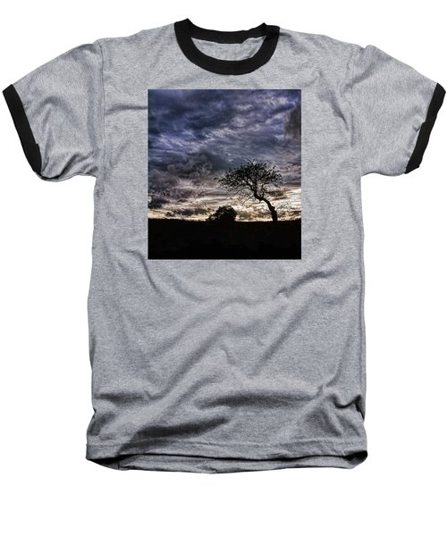 Nova Scotia's Lonely Tree Before The Storm  Baseball T-Shirt