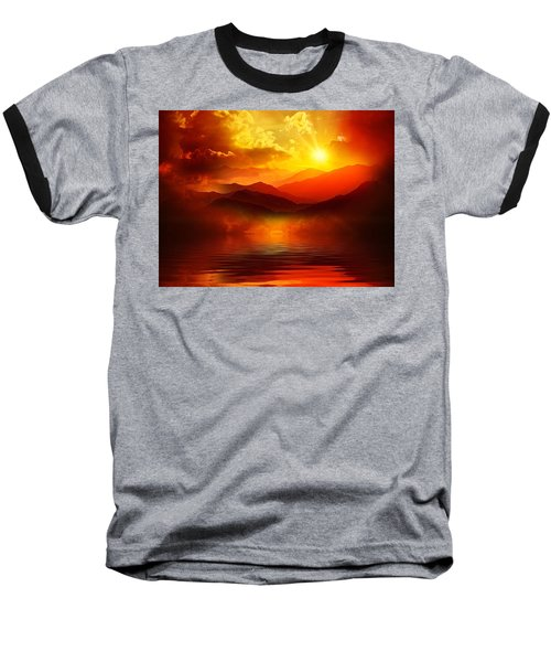 Before The Sun Goes To Sleep Baseball T-Shirt by Gabriella Weninger - David