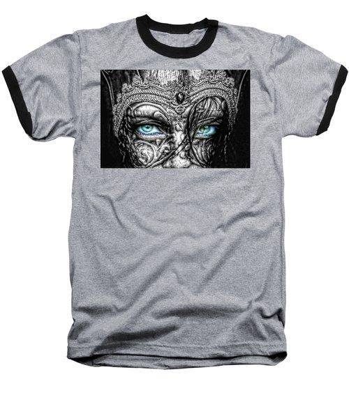 Behind Blue Eyes Baseball T-Shirt by Mo T