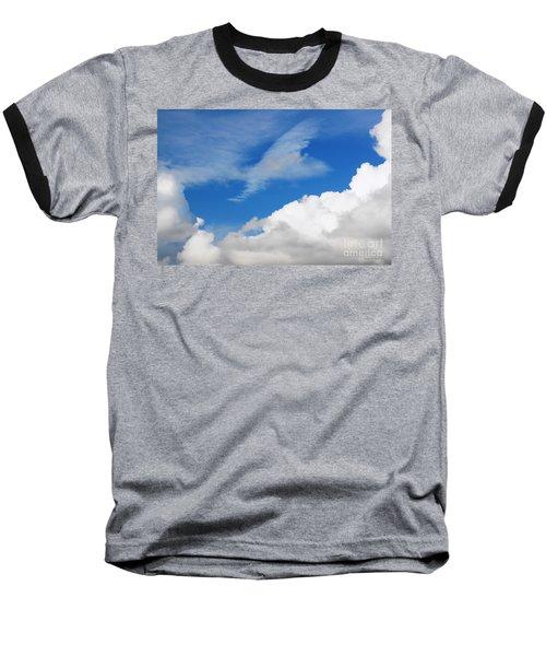 Behind The Clouds Baseball T-Shirt by Susan Wiedmann