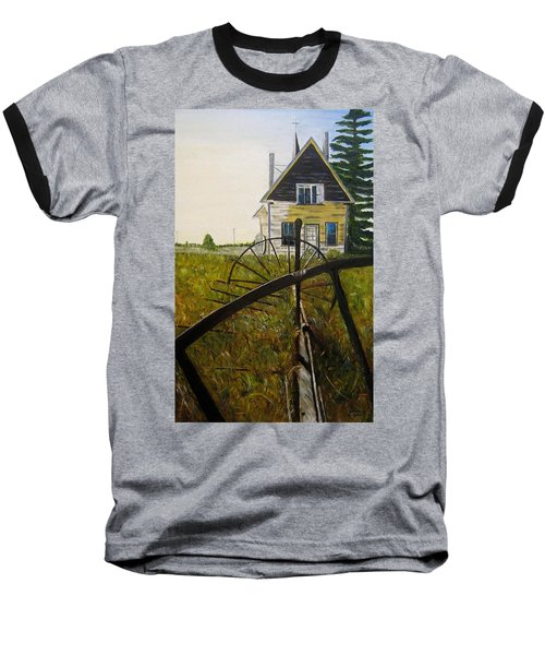 Baseball T-Shirt featuring the painting Behind The Old Church by Marilyn  McNish
