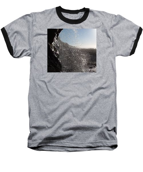 Behind The Waterfall Baseball T-Shirt