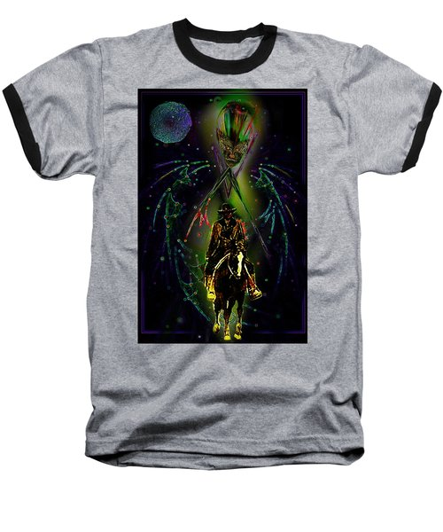 Baseball T-Shirt featuring the digital art Behold The Pale Rider  by Hartmut Jager