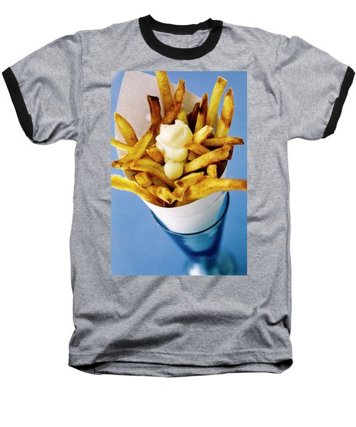 Belgian Fries With Mayonnaise On Top Baseball T-Shirt