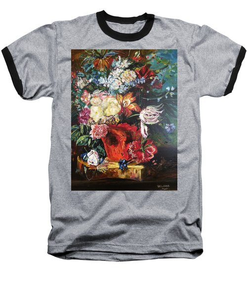 Life Is A Bouquet Of Flowers  Baseball T-Shirt by Belinda Low