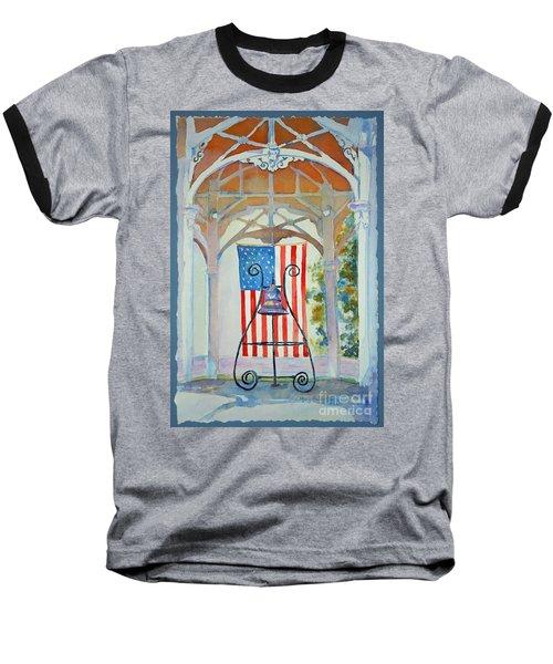 Bell And Flag Baseball T-Shirt