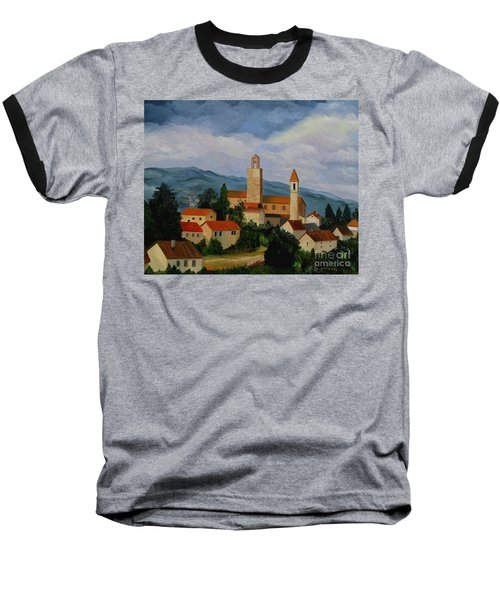 Bell Tower Of Vinci Baseball T-Shirt by Julie Brugh Riffey