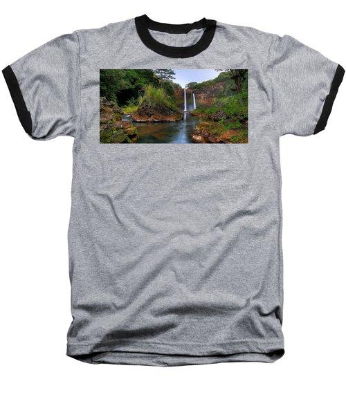 Below Wailua Falls Baseball T-Shirt