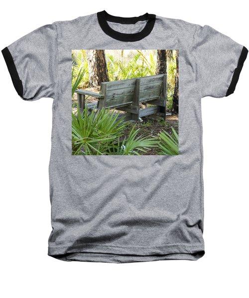 Bench In Nature Baseball T-Shirt