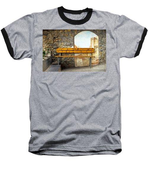 Bench In Riomaggiore Baseball T-Shirt