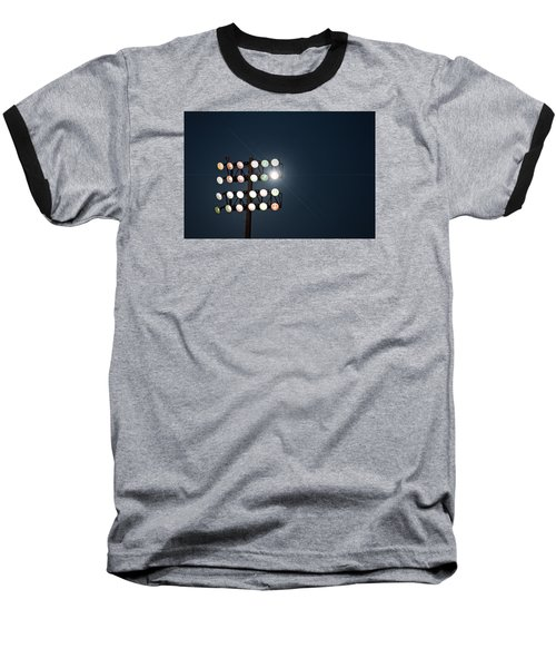 Beneath Friday Night Lights Baseball T-Shirt by Trish Mistric