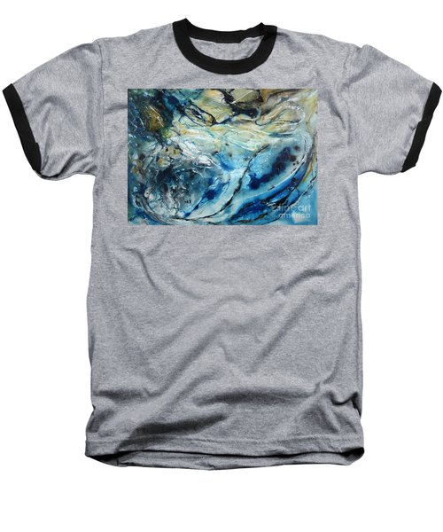 Beneath The Surface Baseball T-Shirt by Valerie Travers