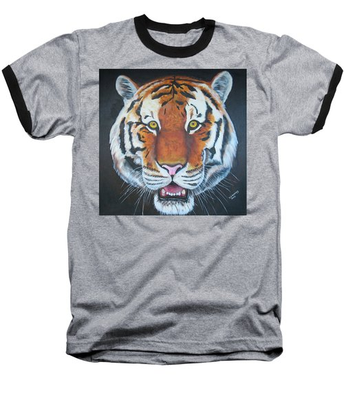 Baseball T-Shirt featuring the painting Bengal Tiger by Thomas J Herring