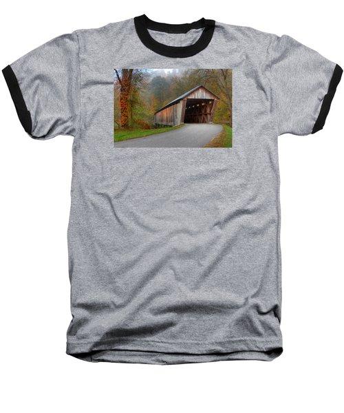 Bennett Mill Covered Bridge Baseball T-Shirt