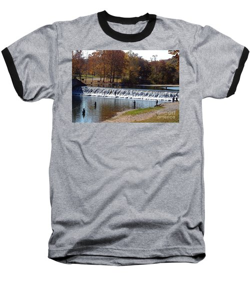 Baseball T-Shirt featuring the photograph Bennett Springs Spillway by Sara  Raber