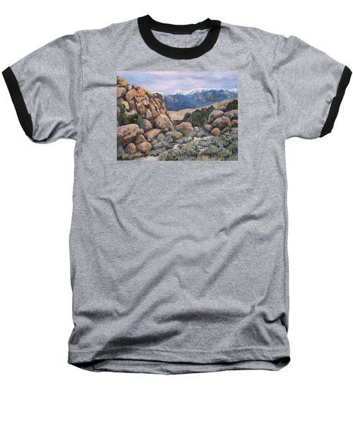 Baseball T-Shirt featuring the painting Benton by Donna Tucker
