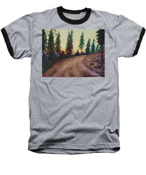 Baseball T-Shirt featuring the painting Bergebo Forest by Martin Howard