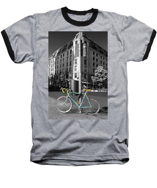 Berlin Street View With Bianchi Bike Baseball T-Shirt