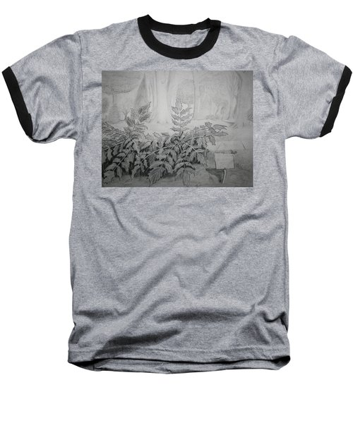 Baseball T-Shirt featuring the drawing Bernheim Forest Plant by Stacy C Bottoms