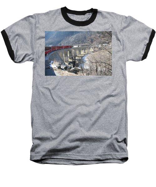 Bernina Express In Winter Baseball T-Shirt
