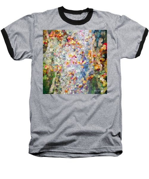 Berries Around The Tree - Abstract Art Baseball T-Shirt by Kerri Farley