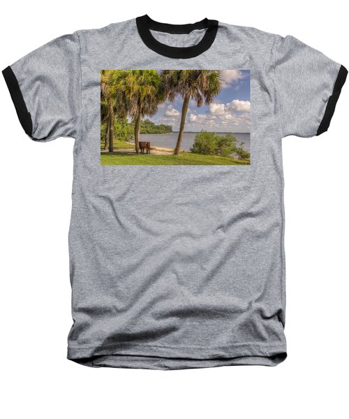 Baseball T-Shirt featuring the photograph Beside The Shore by Jane Luxton