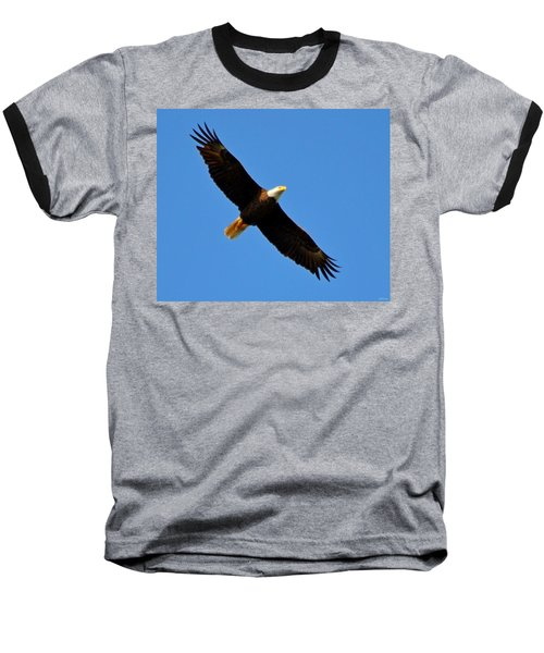 Best Bald Eagle On Blue Baseball T-Shirt