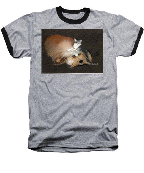 Best Friends Baseball T-Shirt by Catherine Swerediuk