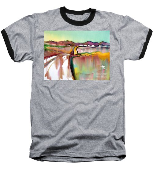 Baseball T-Shirt featuring the painting Bethel Road by Teresa Ascone