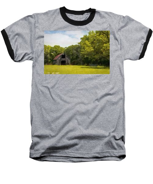 Baseball T-Shirt featuring the painting Better Days by Jeff Kolker