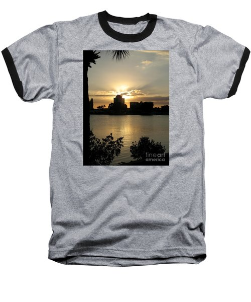 Between Day And Night Baseball T-Shirt by Christiane Schulze Art And Photography